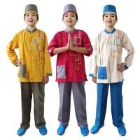 Baju Koko Anak Warna Fayrany FKW-011 Size 1 - 5 Tahun - 4 tahun, Merah