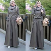 Baju Gamis Wanita Terbaru Sadira Dress Baju Dress Hijab Syari Murah