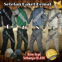 Setelan Celana Paket Baju Kaos Tactical Combat Tshirt Polo Loreng TAD