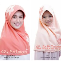 Jilbab Anak Vania motif Bunga ASLI Original size S 4-7th