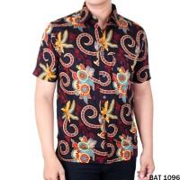Baju Lengan Pendek Batik Reguler Fit Keren - BAT 1096
