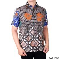 Baju Etnik Motif Batik Pendek Reguler Fit - BAT 1095