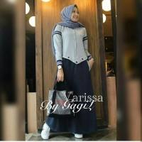 Baju Gamis Wanita Terbaru - Varissa Dress - Baju Dress Muslimah Syari