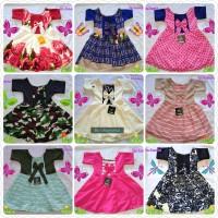 Dress Lengan pendek UK 1-2 thn Baju anak bayi baju anak cewek dress