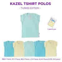 Kazel Tshirt Polos Turkis 0-5Thn