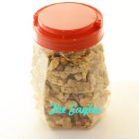 Keripik kripik jamur tiram putih goreng net 250 gr oleh khas solo jogj