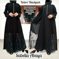 abaya gamis hitam arab jetblack saudi BOLERO BROKAT BLACKJACK