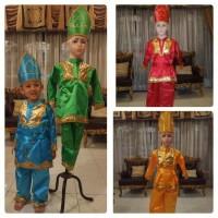 Baju adat daerah sumatera barat padang minang anak laki laki