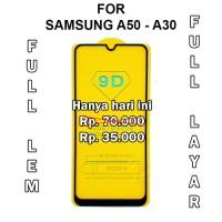 TEMPERED GLASS Samsung A50 - A30 - A10 anti gores screen guard full 5D