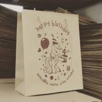 paper goodie bag ulang tahun ultah tas kado souvenir ultah medium