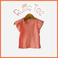 Ruffle Tee kaos ruffle anak bayi baju anak perempuan size s 1 -2 tahun