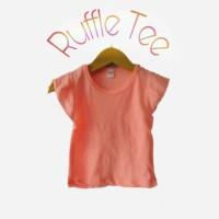 kaos ruffle tee dress anak bayi baju anak perempuan size M 2 - 3 tahun