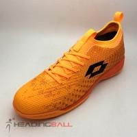 Sepatu Futsal Lotto Original Spark IN Beat Orange Black L01040004 BNIB