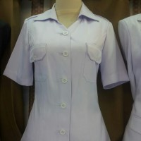 blazer baju kerja kantor atasan putih ASN kemeja putih jokowi