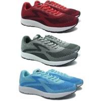 Sepatu Lari Running Specs Overdrive Emperor Red Ash Grey Original
