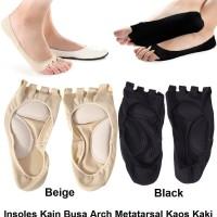 Insoles Kain Busa Arch Metatarsal Insole Cushion Kaki Datar Flat Foot