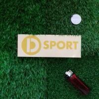 D SPORT decal & cutting sticker mobil & motor