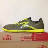 Sepatu Futsal Specs Quark IN Olive Zest Green 400778 Original BNI
