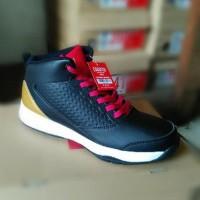 Sepatu basket piero zagato black red gold olahraga top