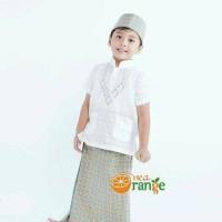 Best Baju Koko Anak Balita Lengan Pendek Bordir Putih (1- 7 tahun)