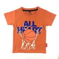 Kaos Anak - Anak Basket Ball Oranye L005 by Little Jergio