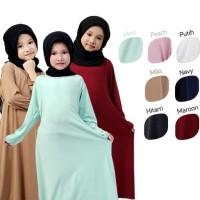 Best BAJUYULI - Baju Muslim Gamis Anak Perempuan Murah Polos Jersey -