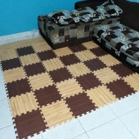 Matras/Tikar/Karpet/Puzzle alas lantai evamat/Evamat motif wooden