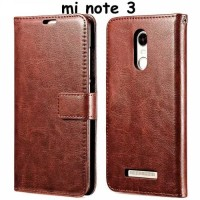 Flip Walet XIAOMI REDMI NOTE 3 Sarung Leather Case Back Casing Cover