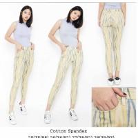LOFT Curvy Skinny Ankle Sand Dune Ikat Print Pant Celana Branded Murah