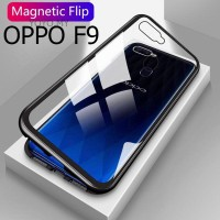 Oppo F9/ Pro Luxury Magnetic Casing Case Glass Back Cover 2 in 1