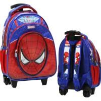 Tas Trolley Anak Sekolah TK & PG Spiderman Bahan Kain Sponge Anti Air