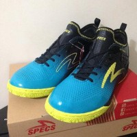 LIMITED Sepatu Futsal Specs Metasala Musketeer Black Coctail Blue