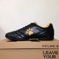 PROMO Sepatu Futsal Kelme Power Grip Black Gold 1102091 BNIB TERMURAH