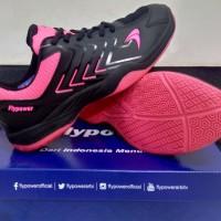 sepatu badminton bulutangkis flypower pawon 4 hitam pink ori