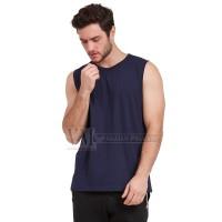 VM Kaos Dalam jumbo Kaos Polos Buntung Biru Dongker