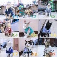 baju koko kucing lebaran 2019 untuk kucing dan anjing size S-XL