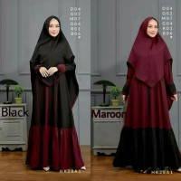 Aresya - Gamis Wanita Set Syarii Dress Muslim + Khimar