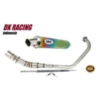 knalpot Racing Yamaha New Vixion DBS Rainbow fullstenlis High Quality
