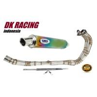 knalpot Racing Kawasaki Ninja 250 karbu DBS Rainbow fulstenlis Quality