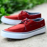 Sepatu Sneakers Pria Vans Zapato Merah Putih Import