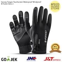 Sarung Tangan Motor Touchscreen Waterproof Resleting B-Forest Versi 2