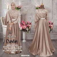 Gamis Kebaya Modern Baju Pesta Brokat Mix Velvet Ori 5 Pilihan Warna
