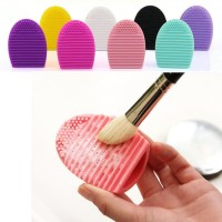 EGG BRUSH PAD - alat pencuci kuas make up brush - bahan silikon