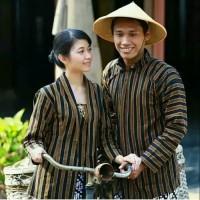Surjan+Kebaya Lurik Coupel / Baju Adat Jawa /Tenun Solo Jogja /Seragam