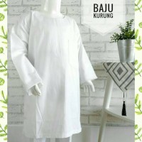 (1-3SD) Baju Kurung Padang Muslim Putih Anak SD Kelas 1-3 Bahan Katun