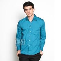 VM Kemeja Polos Slim fit BAsic Panjang Mid Toska / Long Shirt Sleeves