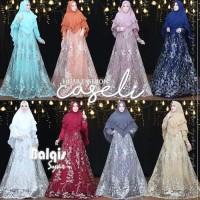 Gamis Syari Brokat Balqis Premium by Caseli Ori. Gaun Kebaya Pengantin
