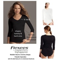 Kaos V-neck Stretch Tops Flexees by Maidenform available 2 colors