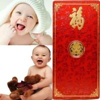 Baby Luck Gold Coin Bar 24K Angpao Special Logam Mulia Emas Murni
