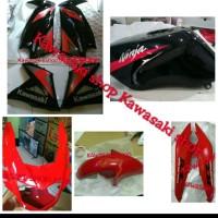 fairing cover body full set ninja rr new merah atau hitam list merah